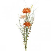 Künstliche Wiesenblumen Orange Kunstblumen am Pick Sommerdeko