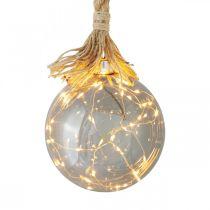 LED Kugel Innen Lichtkugel mit Seil Ø14cm 30L Warmweiß