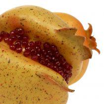 Kunstobst Granatapfel mit Kernen Ø6cm - Ø7cm L18cm