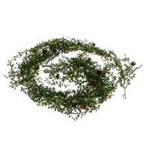 Lärchengirlande Grün mit Zapfen 180cm