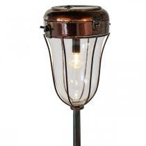 Solar-Laterne zum Stecken, LED-Stableuchte Ø13,5cm L58cm H21cm