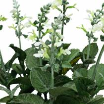 Künstlicher Lavendeltopf, Deko-Lavendel, Seidenblume in Weiß