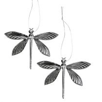 Libellen zum Hängen Silber 6,5cm x 5cm 36St