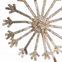 Gartenstecker Pusteblumen Edelrost Metall Ø13/15 H66cm