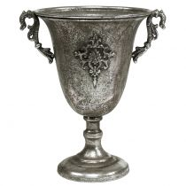 Pokal aus Metall Antik Silber Ø20,0cm H30cm