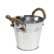 Blecheimer mit Seilgriffen glänzend Ø16cm