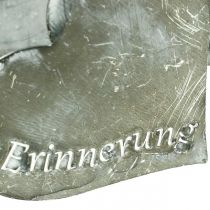 """Trauerstecker Herzen """"Unvergessen"""" """"In Liebe"""" """"In Erinnerung"""", Metalldeko, Silbern 8×7cm 12St"""
