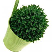 Pflanztopf zum Hängen, Balkondeko, Blumentopf Grün Ø13,5cm
