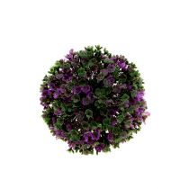 Mini-Kugel Lila mit Blüten Ø12cm 1St