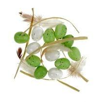 Mini Ei Grün-Weiß 2,5cm 48St