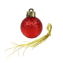 Mini Weihnachtskugel Rot Ø3cm 14St