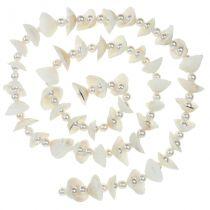 Muschelgirlande mit Perlen Weiß 100cm
