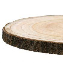 Baumscheibe Blauglockenbaum Natur Ø30-35cm 1St