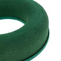 Steckschaum Ring Kranz Grün H4,5cm Ø17cm 6St