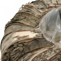 Übertopf rund Birkenrinde Pflanzgefäß Tischdeko Ø35cm H12cm