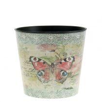 Dekotopf Vintage Schmetterling Ø10,5cm