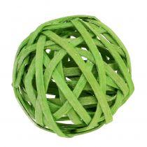 Rattanball Frühlingsgrün Ø4cm 12St