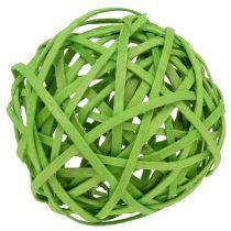 Rattanball Hellgrün Ø6cm 6St