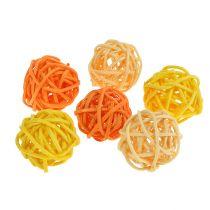 Rattanball Orange Gelb Apricot 72St