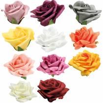 Foam-Rose Ø10cm verschiedene Farben 8St