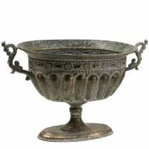 Pokal Schale Antik Gold Oval 42cm H28cm