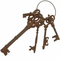 Schlüsselbund Gußeisen Rost 36cm 5teilig