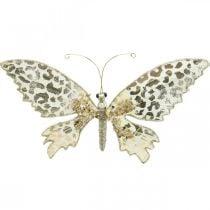 Schmetterling zum Klemmen, Baumdeko, Advent, Hochzeitsdeko, Deko-Clip L16cm B13cm