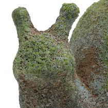 Gartenfigur Schnecke bemoost 31cm x 17cm H17cm