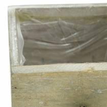 Pflanzgefäß Holzschublade Antik zum Pflanzen 15/12/9cm 3St