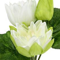 Seerosen künstlich Weiß 35cm