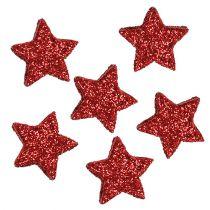 Stern Glitter 1,5cm zum Streuen Rot 144St