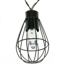 LED Solar Lichterkette Gartendeko Schwarz 350cm 8LED