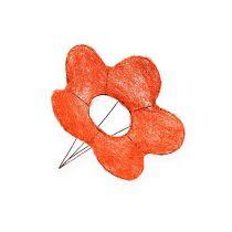 Sisal-Blumenmanschetten Orange Ø15cm 10St