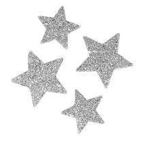 Sterne zum Streuen Silber sort. 4-5cm 40St