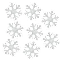 Streudeko Schneeflocken weiß 3,5cm 120St