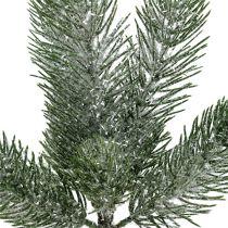 Tannenzweig Grün geeist 30cm 3St