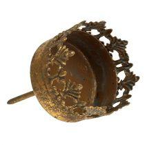 Teelichthalter Gold Antik Ø5cm H10cm 1St