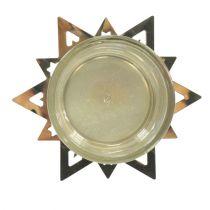 Teelichthalter Stern Gold 23,5cm 4St