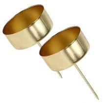 Teelichthalter Gold Ø4cm L7cm 4St