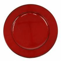 Dekoteller Rot/Schwarz Ø22cm