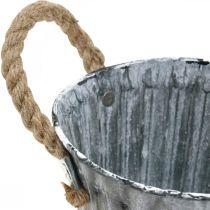 Pflanztopf mit Henkeln, Metallgefäß, Übertopf Antik-Look Ø12cm