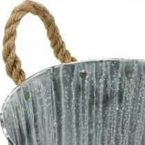 Pflanzgefäß, Deko-Topf mit Henkeln, Metalltopf zum Bepflanzen Ø25,5cm