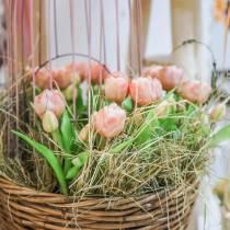 Tulpen-Bund Real Touch, Kunstblumen, Künstliche Tulpen Rosa