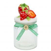 Vorratsglas mit Deckel Erdbeere 14,5cm