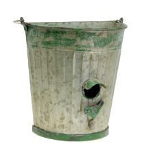 Deko Vogelhaus zum Hängen Antik Grün H26cm