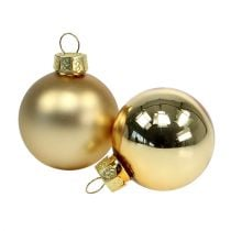 Weihnachtskugel 4cm Gold glanz/matt 28St