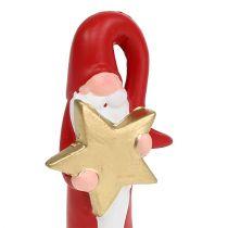 Weihnachtsmann Figur Rot H15cm