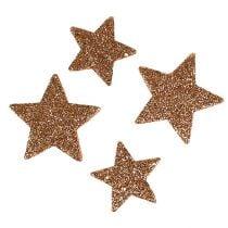 Weihnachtssterne 4-5cm sort. Kupfer 40St