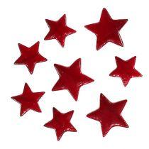 Weihnachtssterne mix 4-5cm rot glänzend 72St