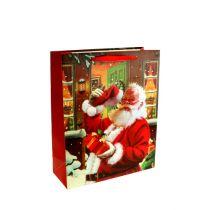 Geschenktüte mit Nikolaus 24cm x 18cm x 8cm